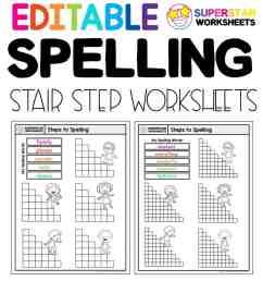Stair Step Spelling Worksheets - Superstar Worksheets [ 1028 x 924 Pixel ]