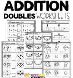 Addition Doubles Worksheets - Superstar Worksheets [ 1028 x 924 Pixel ]