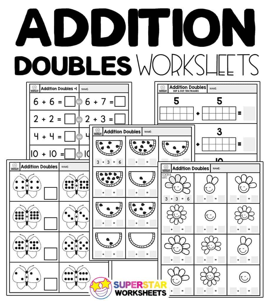 medium resolution of Addition Doubles Worksheets - Superstar Worksheets