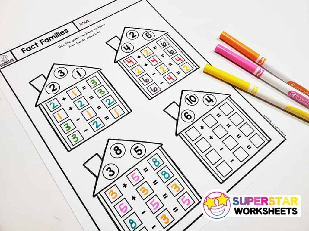 hight resolution of Fact Family Worksheets - Superstar Worksheets