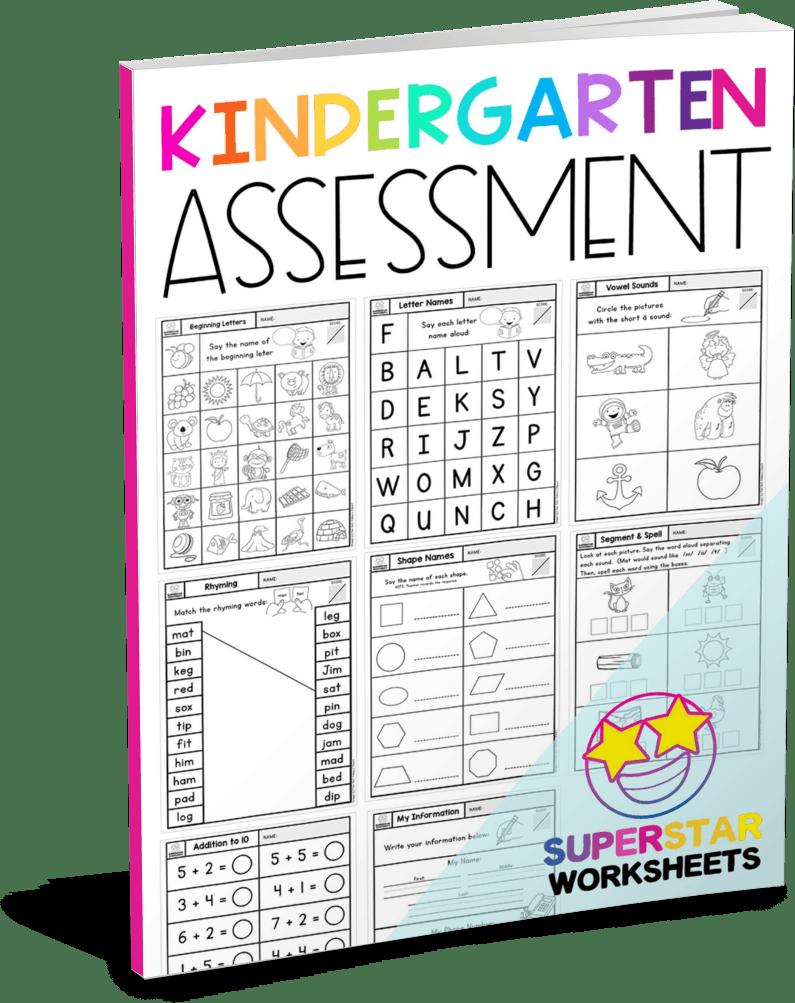 medium resolution of Kindergarten Assessment Worksheets - Superstar Worksheets