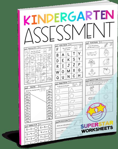 small resolution of Kindergarten Assessment Worksheets - Superstar Worksheets