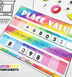 Place Value Chart - Superstar Worksheets [ 768 x 1024 Pixel ]