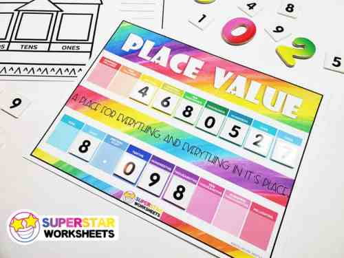 small resolution of Place Value Chart - Superstar Worksheets