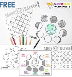 Phases of the Moon Worksheets - Superstar Worksheets [ 1024 x 1024 Pixel ]