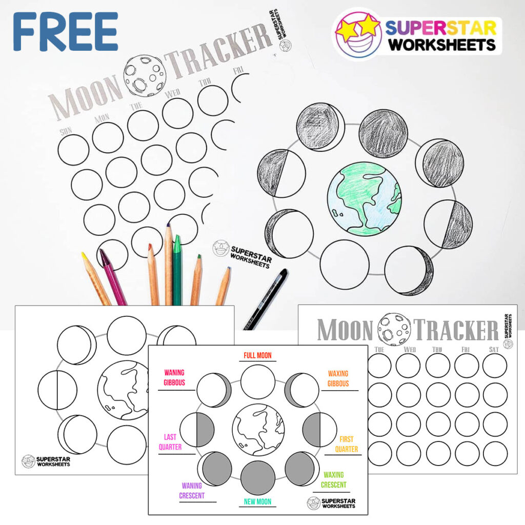 hight resolution of Phases of the Moon Worksheets - Superstar Worksheets