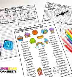 Compound Words Worksheet - Superstar Worksheets [ 788 x 1024 Pixel ]
