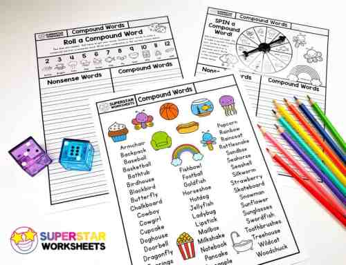 small resolution of Compound Words Worksheet - Superstar Worksheets