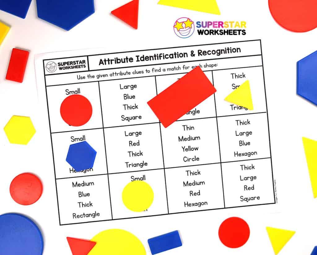 hight resolution of Shape Attributes Worksheets - Superstar Worksheets