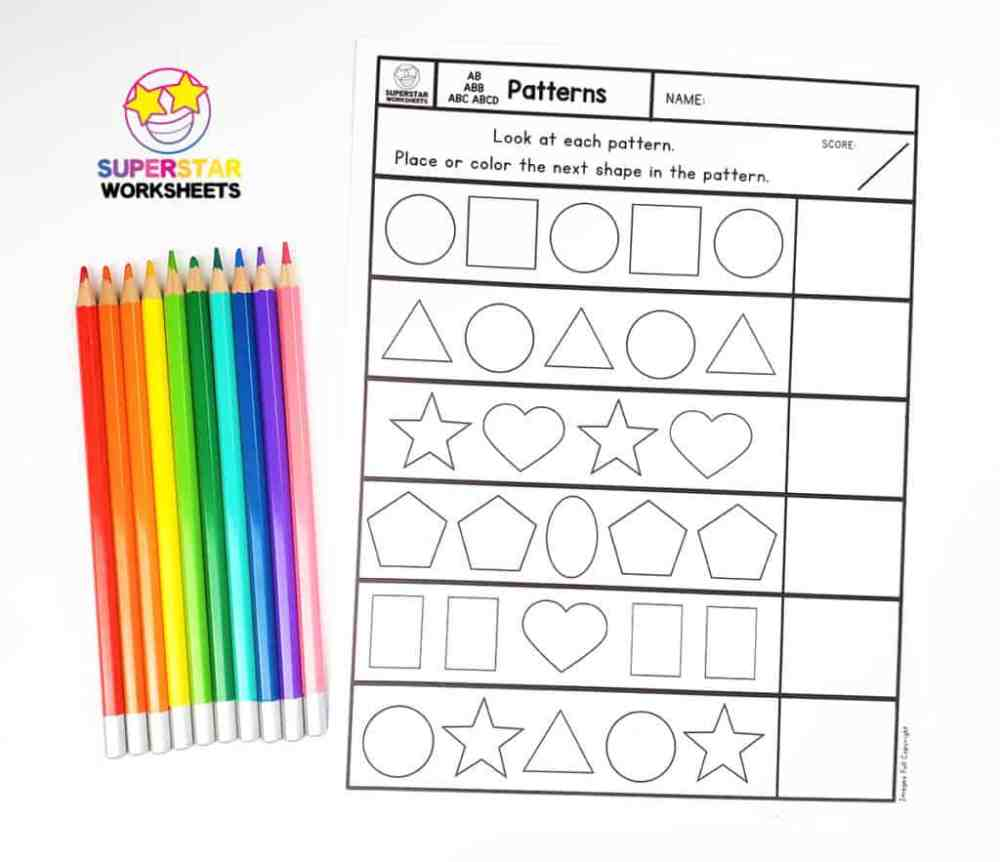 medium resolution of Pattern Worksheets - Superstar Worksheets