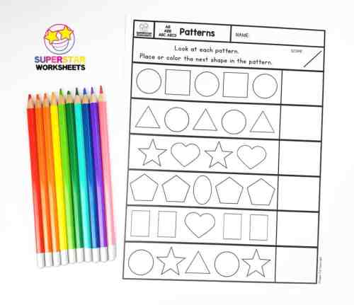 small resolution of Pattern Worksheets - Superstar Worksheets