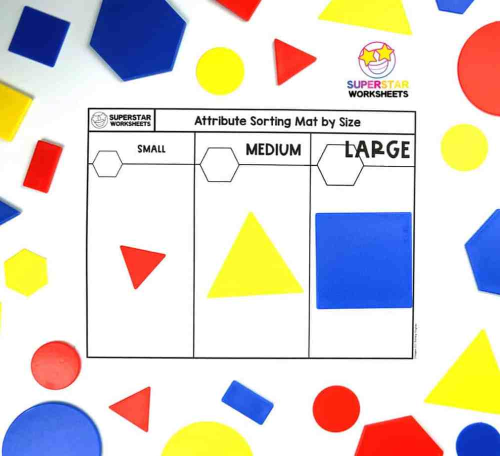 medium resolution of Shape Attributes Worksheets - Superstar Worksheets