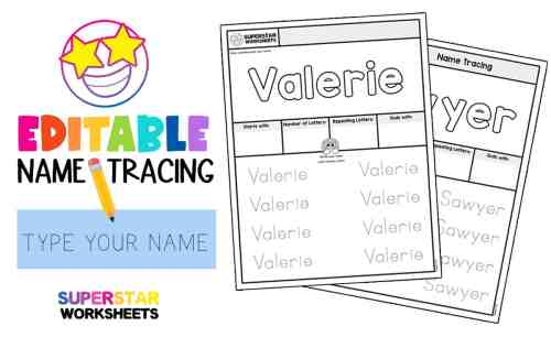 small resolution of Name Tracing Worksheets - Superstar Worksheets
