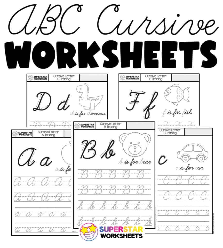medium resolution of Cursive Worksheets - Superstar Worksheets