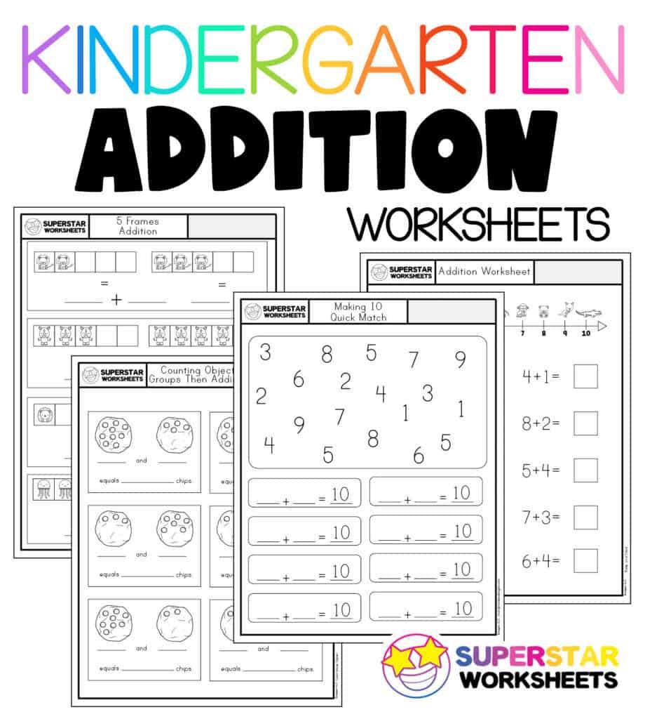 medium resolution of Kindergarten Math Worksheets - Superstar Worksheets