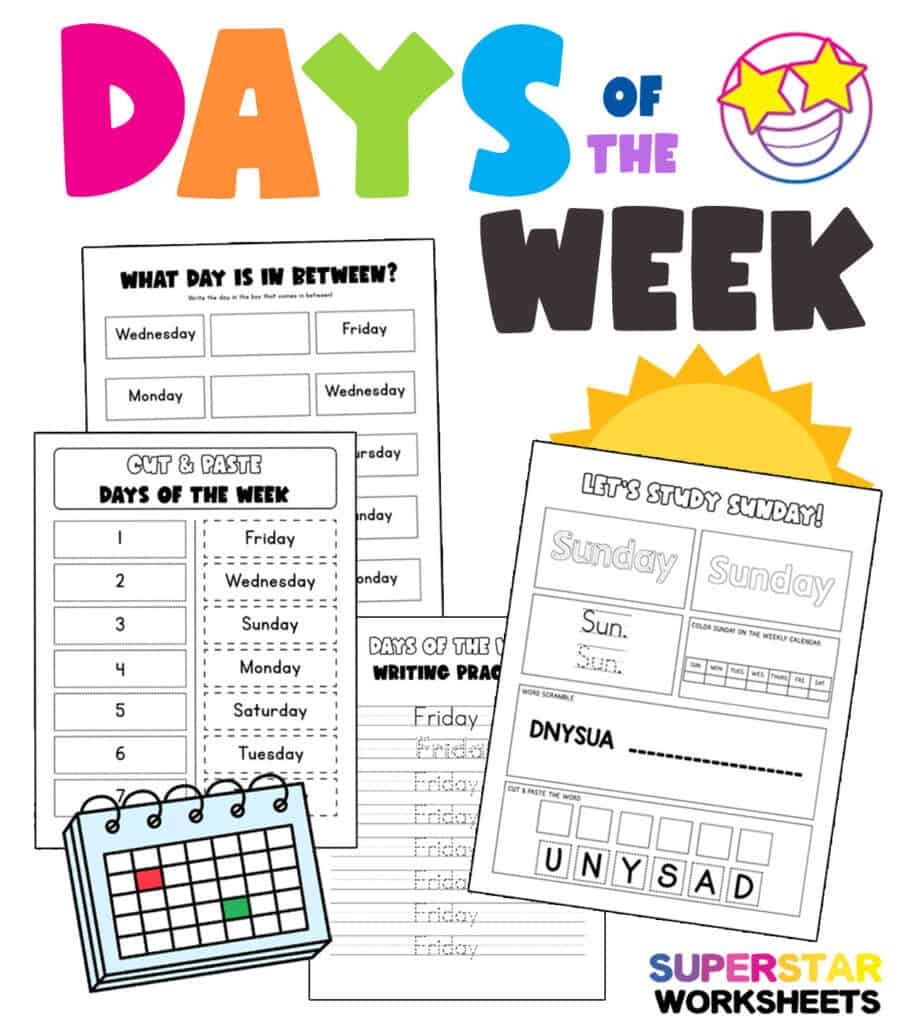 hight resolution of Calendar Worksheets - Superstar Worksheets