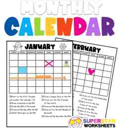 Calendar Worksheets - Superstar Worksheets [ 1024 x 920 Pixel ]