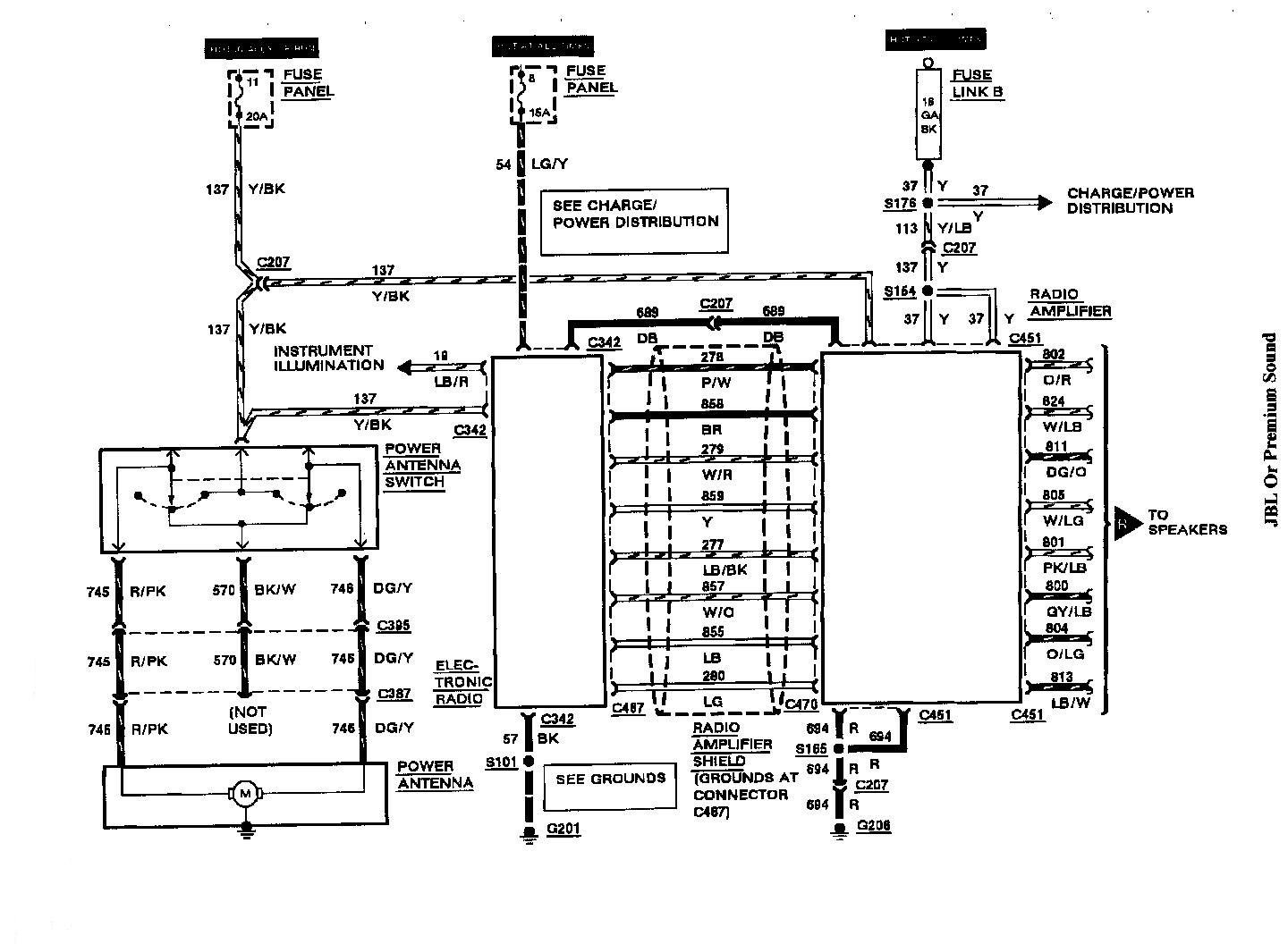 Radio Wiring Diagram 2000 Lincoln Continental. Lincoln