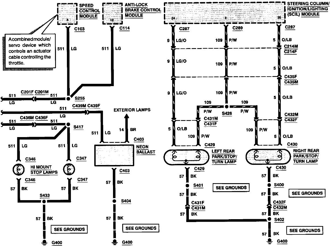 1992 Lincoln Town Car Wiring Diagram Turn Signals : 49