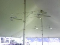 Tent Ceiling Fans - Super Stuff Party Rental