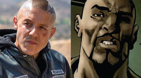 """""""Shades"""" Alvarez - Sons of Anarchy fans spent years getting to know Theo Rossi as Juan Carlos 'Juice' Ortiz – a biker who regularly finds himself stuck between a rock and a hard place, often due his own stupidity. Those of you who are expecting the actor to do something similar in Luke Cage will be disappointed, however, as this time around he's playing someone with a bit of brains."""