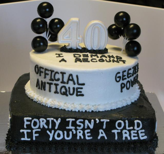 Over The Hill 40th Birthday Cake Super Sweet Tooth