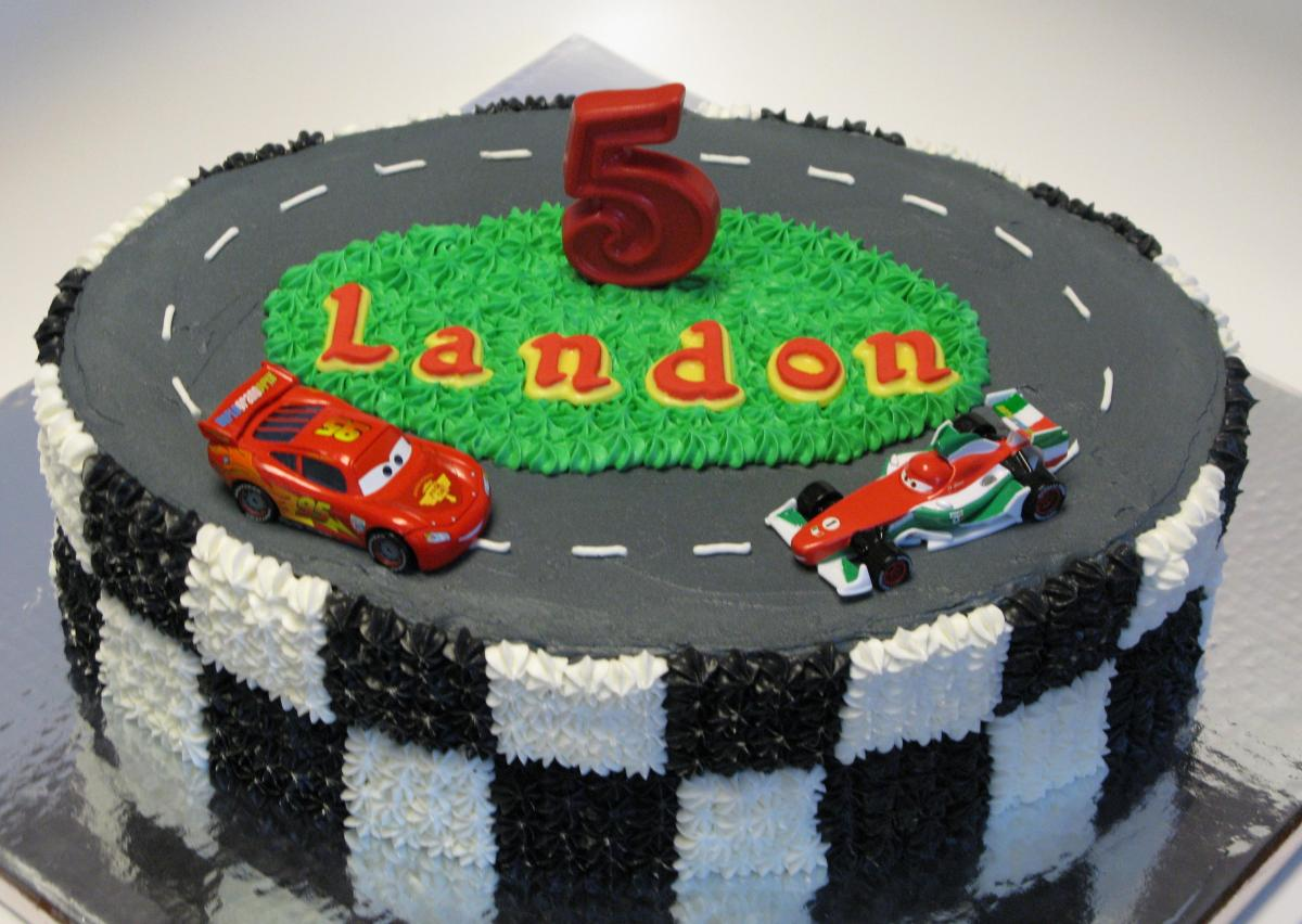 Cars Themed Birthday Cake And Cupcakes Super Sweet Tooth