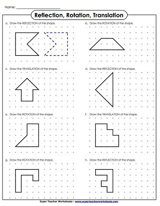 Reflections Worksheet Answers : reflections, worksheet, answers, Reflection,, Translation,, Rotation, Worksheets