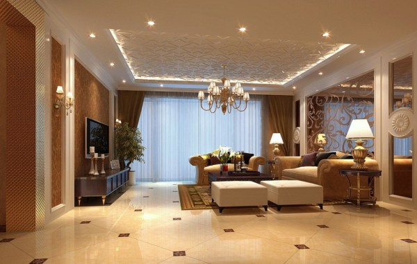 house interior decoration living room Elect luxury habitation in Supertech Romano and feel Rome