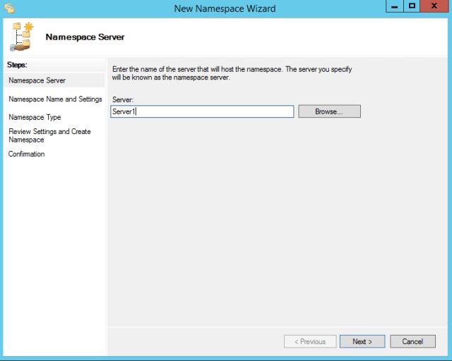New Namespace