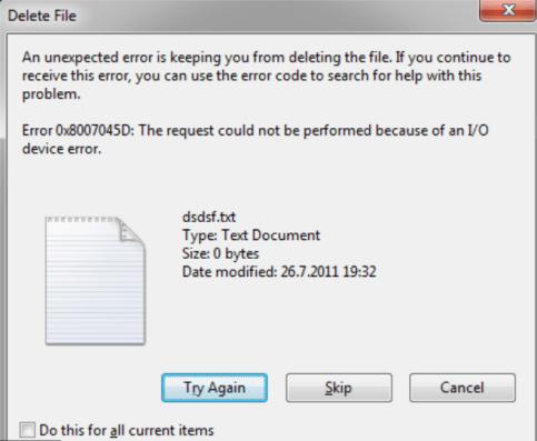 error 0x8007045d file mod