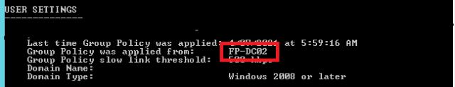 GpResult User settings