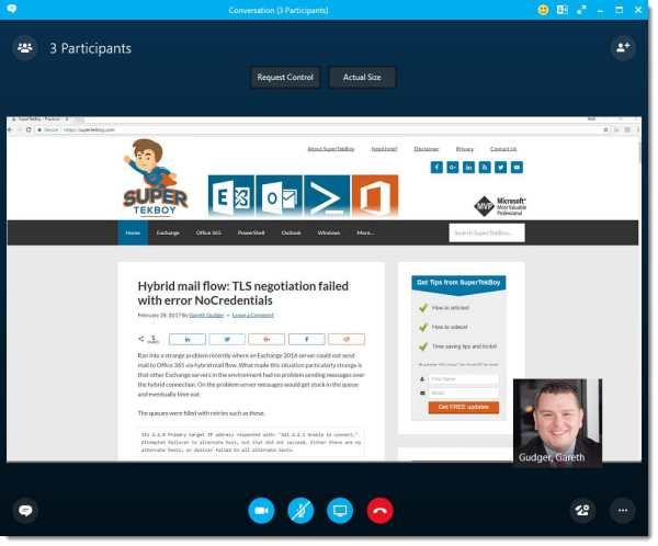 Skype for Business Speaker View