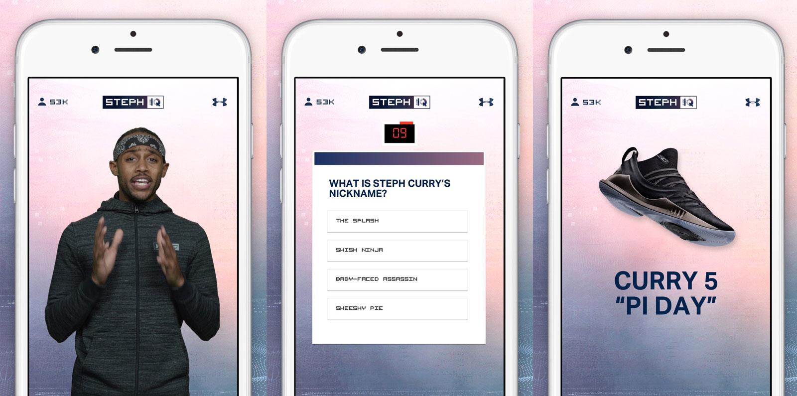 Under Armour lança app com quiz em direto