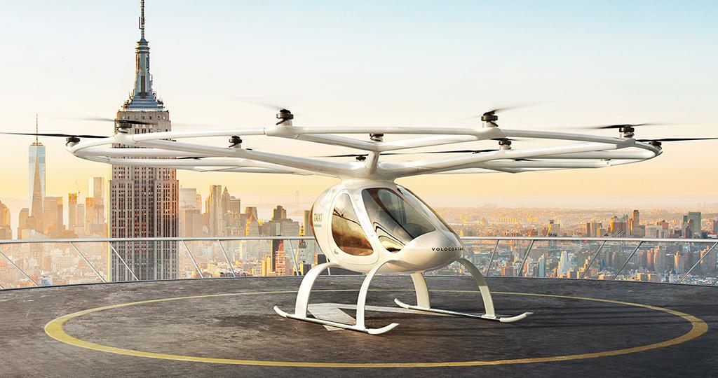 Volocopter, um fabricante de táxis aéreos elétricos