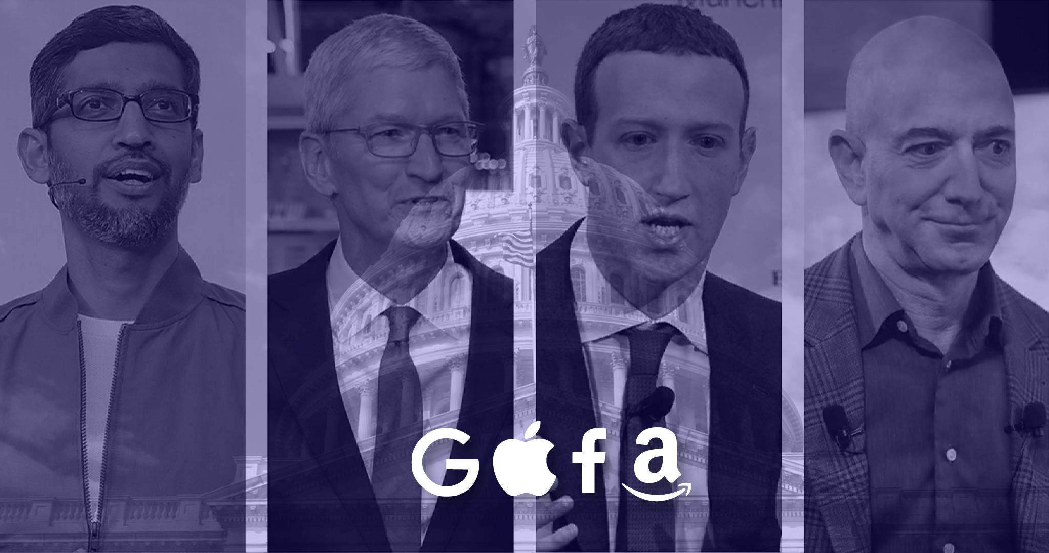 CEOs dos GAFA em audição pela comissão de inquérito do congresso norte-americano