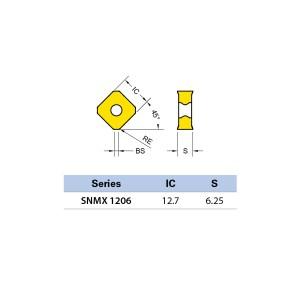 Plăcuță amovibilă pentru frezare SNMX 1206