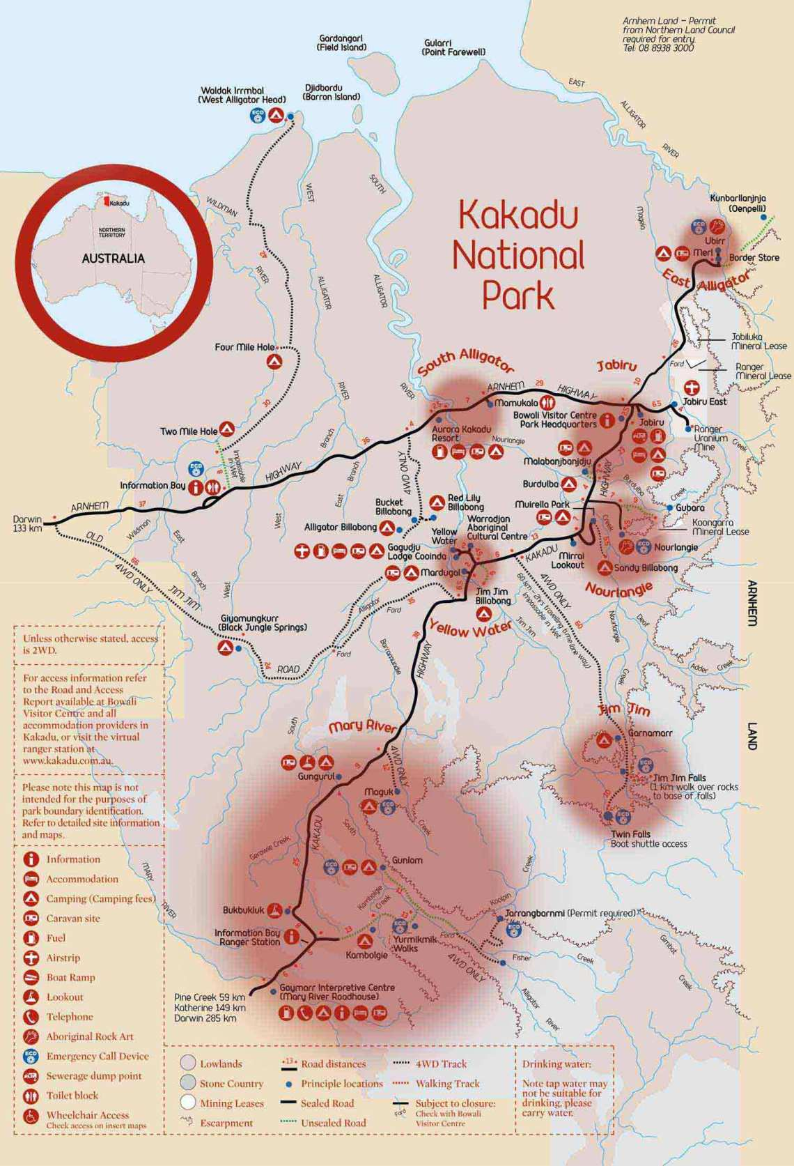 que faire à kakadu carte