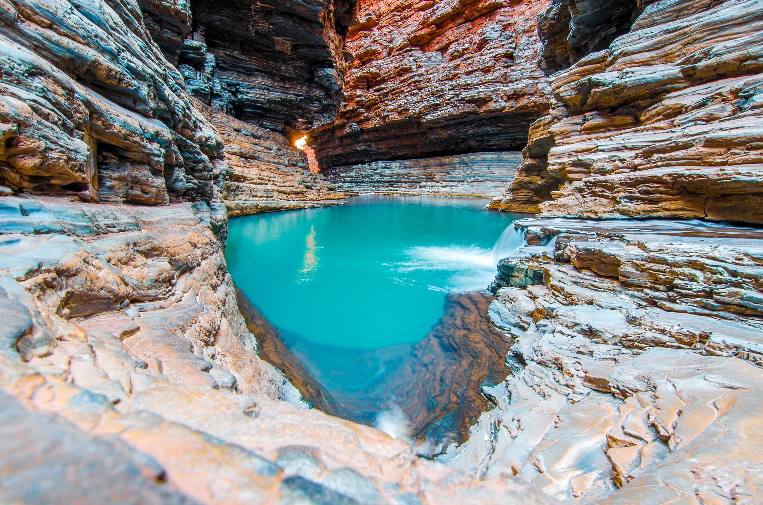 kermits pool karijini côte ouest australie