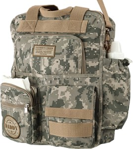 Military Daddy Camo Diaper Bag