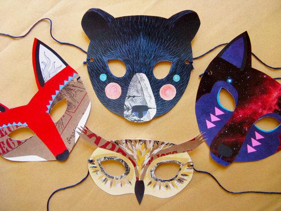 Juego de Máscaras de Kissmego (Etsy)