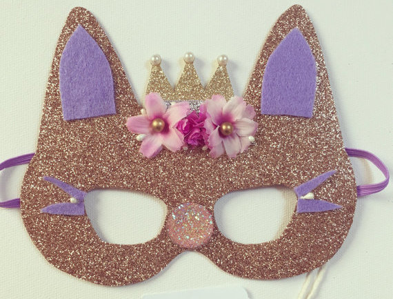Máscara Princess Kitty de nashandwillow (Etsy)