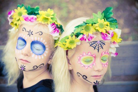 Maquillajes de Halloween para niñas: Catrinas
