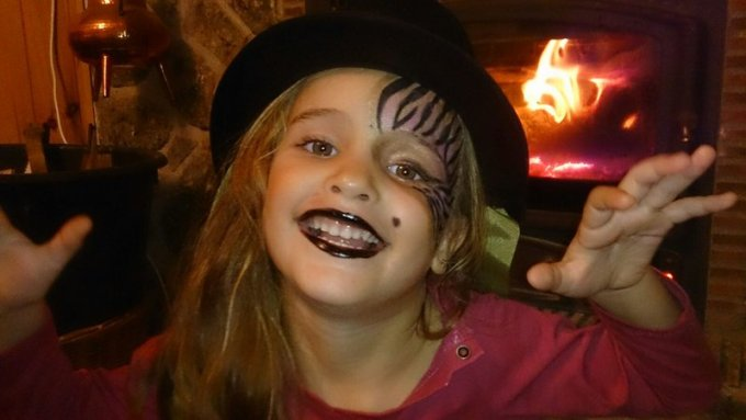 Maquillaje de Halloween para niñas: Monster High