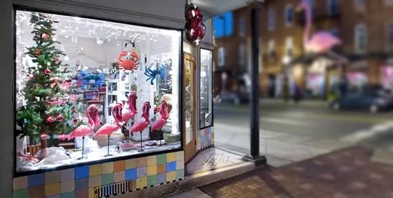Loja decorada para o Natal