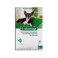 ADVANTAGE perros hasta 4 kg 1 pipeta x 0,4 ml