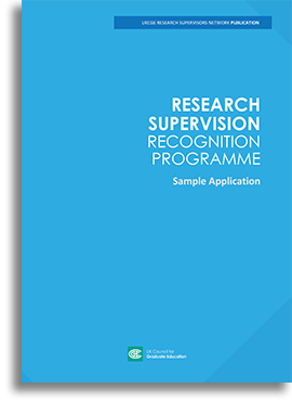 Research Supervision Recognition Programme - Sample Application
