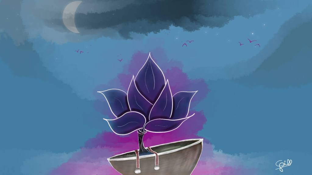 Night flower par Cyrille Gill
