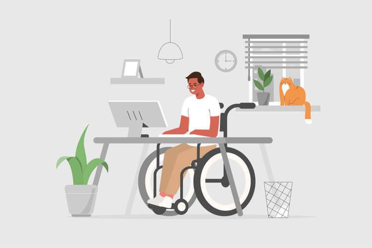 la rédaction web et le travailleur handicapé