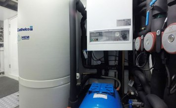 Cathelco-HEM-hot-water-system-on-Mary-Jean-II